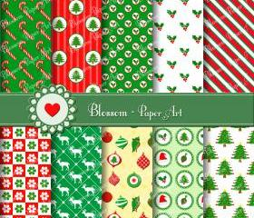Christmas Digital Paper - Scrapbooking - Wrapping Paper - Cardmaking - Invitations - 300 dpi - 1377