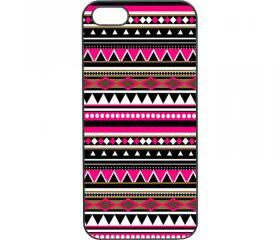 iphone 5 case--Aztec pattern, in black plastic hard case