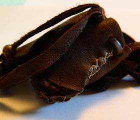 Small Rustic Leather Pouch
