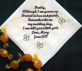 Personalized Wedding Gift for Dad with Clovers from the Bride with Gift Box 105S
