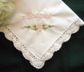 Personalized Wedding Handkerchief from Bride the Flower Girl