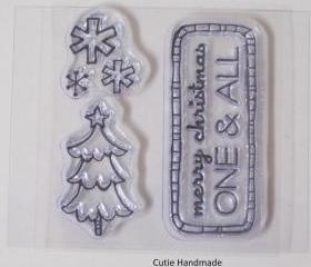 Studio G Clear Christmas Stamps, Cling Stamps, Rubber Stamps, Stamps, Supplies