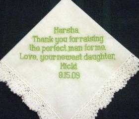 Mother of the Groom Hanky 8B