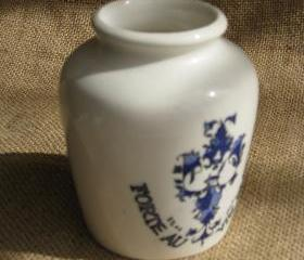 Vintage French Digoin Sarreguemines Grey Poupon Mustard Pot