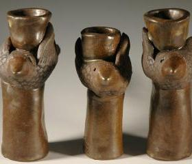 3 Birds Candlestick Holders