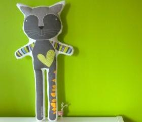 printed soft toy - Reinaldo the cat