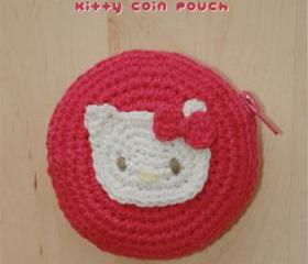 Kitty Pacifier Pouch Crochet SYMBOL PATTERN (pdf)