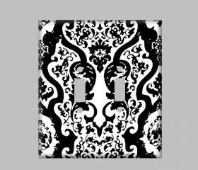 Switchplate Black Damask Modern Switchplate Cover Case
