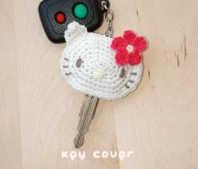 Hello Kitty Key Cover Crochet PATTERN, SYMBOL DIAGRAM (pdf)