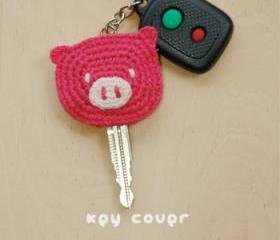 Piggy Key Cover Crochet PATTERN, SYMBOL DIAGRAM (pdf)