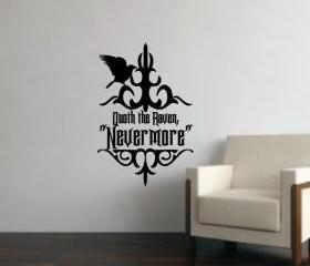The Raven Nevermore Vinyl Wall Decal 22203