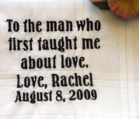 Personalized Wedding Gift-Wedding handkerchief-Father of the Bride with Gift Box 4B