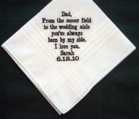 Father of the Bride wedding hankie with Gift Box