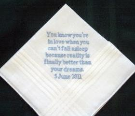 the Bride to the Groom handkerchief 24B