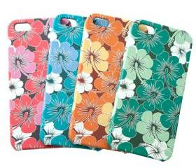 Hibiscus Printing Plastic iPhone 5 Case