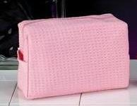 Personalized Wedding Gift -Waffel Weave Cosmetic Bag