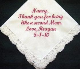 Personalized Wedding Handkerchief for Someone Special with Gift Box 5S