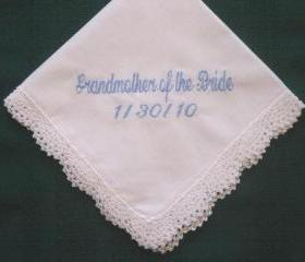 Bridal Hankie for the Grandmother