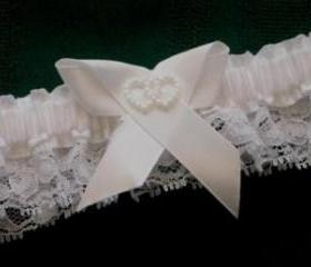 White Heart Garter