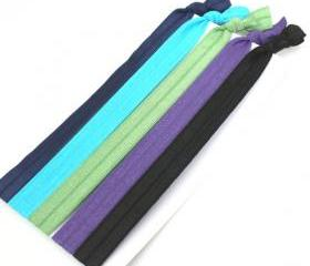 Stretchy Headbands (5) - Elastic Ribbon Hair Tie Headbands - Emi Jay Like Fabric Hairbands - Autumn Fashion Yoga Headbands