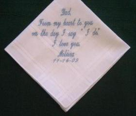 Wedding hanky for father of the bride 35S