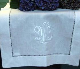 White Hemstitched Table Runner 16x72
