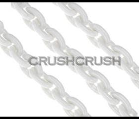 WHITE Chunky Chain Plastic Link Necklace Craft DIY 30 inch A45