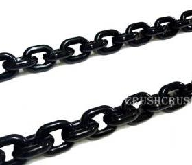 30 inch ( 57pcs ) --- BLACK Chunky Chain Plastic Link Conector Necklace Craft DIY A45