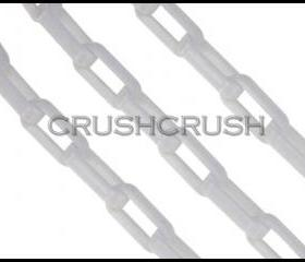 White CHUNKY Chain Plastic Link Necklace Craft DIY 30 inch A46