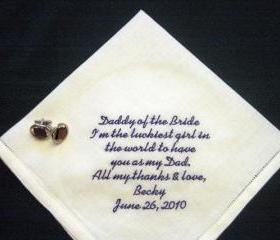 Daddy of the Bride Linen Bridal Hankie with Gift Box 103S