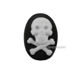 5pcs 25x18mm Skull Crossbone Skeleton Cameos FLAT BACK Cabochons F218