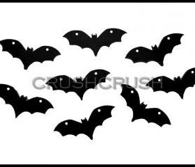 5pcs Black Bats Acrylic Pendants CHARMS Halloween PND-385