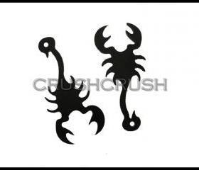 5pcs Black SCORPION King Egyptian Acrylic Pendants CHARMS Halloween PND-386