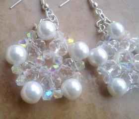 Beadwork crystal earrings