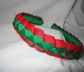 headband for girls in red and green
