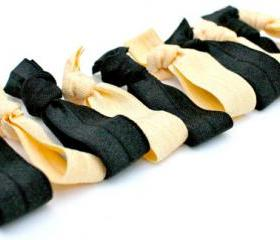 Vanderbilt Colors Fabric Hair Ties (10) - Back to School Hair Bands - Emi Jay Inspired Elastic Hair Ties - School Spirit Hair