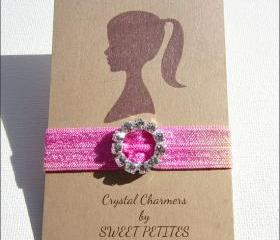Tie Dye Hair Tie - Crystal Charmer - Rhinestone Embellishment - Mane Accessory