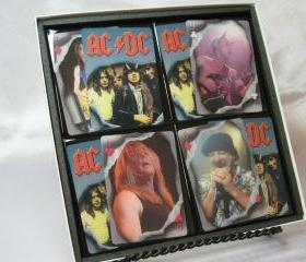 AC/DC Collector Playing Card Drink Coaster Set