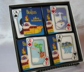 The Beatles Collector Playing Card Drink Coaster Set (Yellow Submarine)