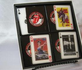 The Rolling Stones Collector Playing Card Drink Coaster Set (Shows their touring posters)