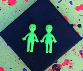 Rad Alien Earrings