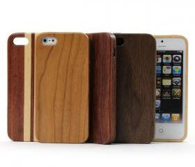 Fashion Snap-in Design Wood iPhone5 Case