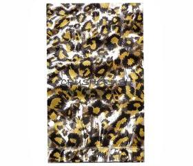 FREE SHIPPING -- 50pcs Clear and Gold Leopard Animal Print Plastic Bags for Gifts Cute G026