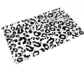 FREE SHIPPING -- 50pcs Clear and Black Leopard Animal Print Plastic Bags for Gifts Sexy G024