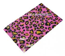 FREE SHIPPING -- 50pcs Pink Leopard Animal PrintPlastic Bags for Gifts Cute G23