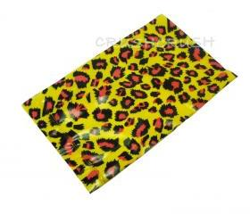 FREE SHIPPING -- 50pcs Yellow and Pink Leopard Animal Print Plastic Bags for Gifts Cute G8