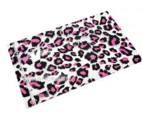 FREE SHIPPING -- 50pcs Clear and Pink Leopard Animal Print Plastic Bags for Gifts Cute G022