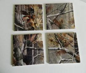 Realtree Camo Print Tile Coasters