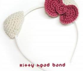 Hello Kitty Head Band Crochet PATTERN, SYMBOL DIAGRAM (pdf)