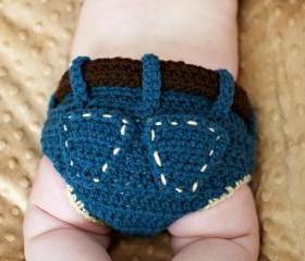 Denim Diaper Cover Crochet Pattern
